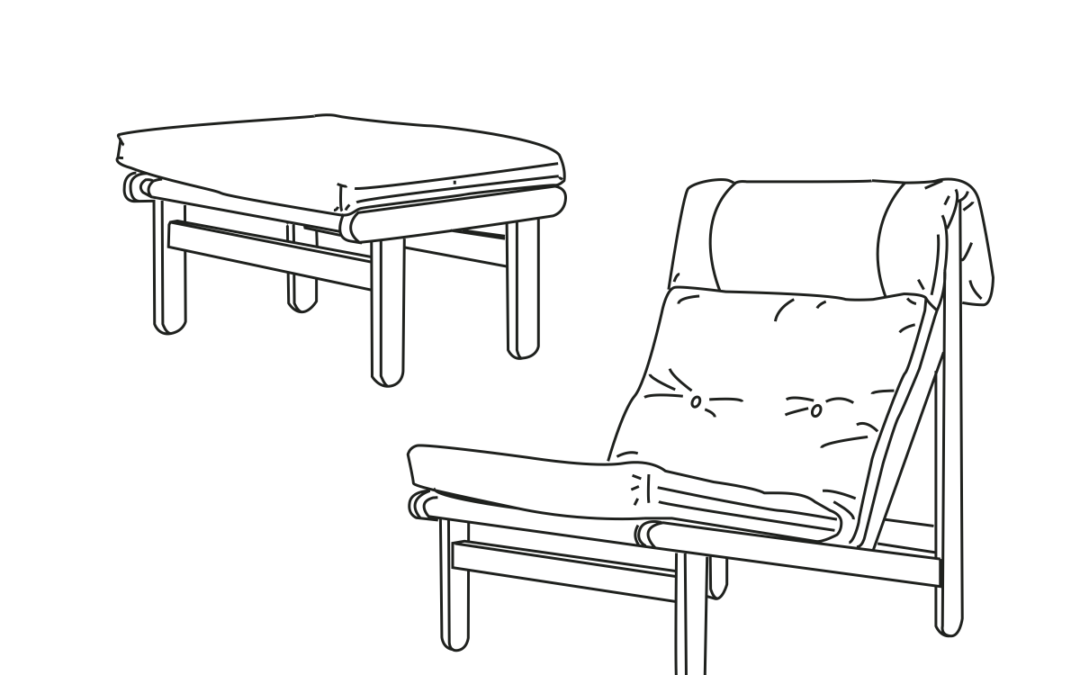 Kludestol og skammel