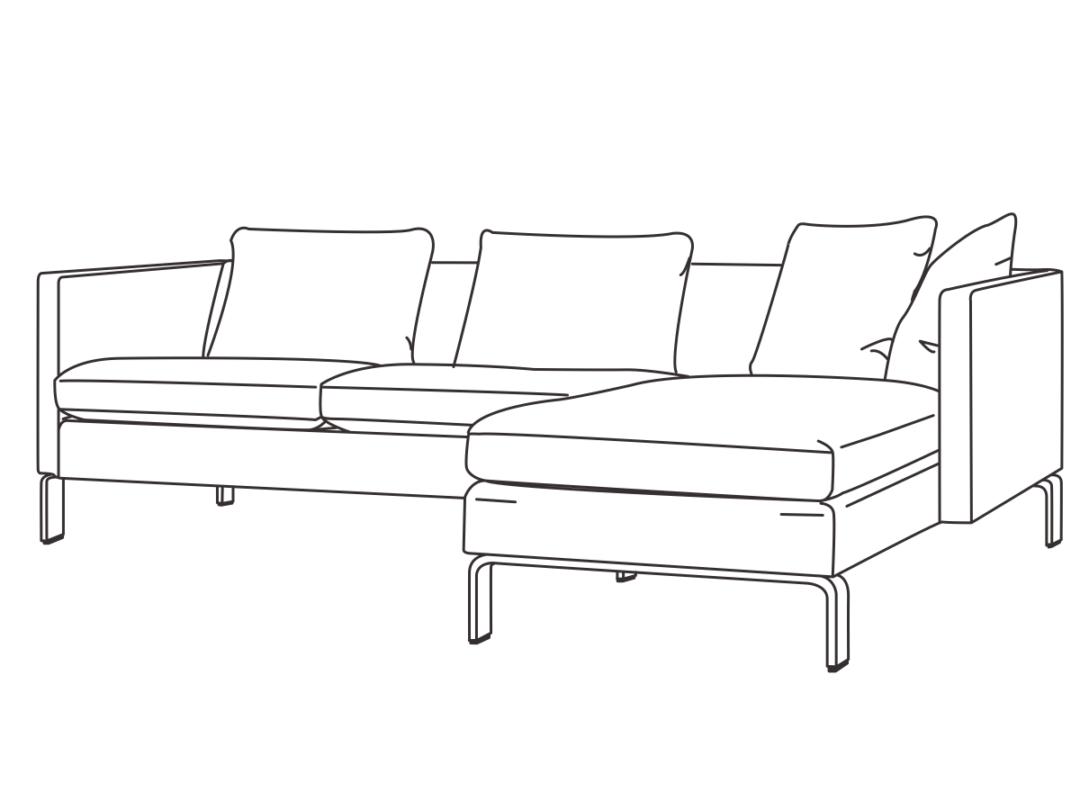 EJ250 sofa med chaiselong