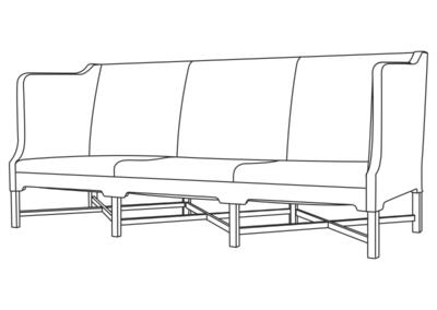4118 3 pers. sofa
