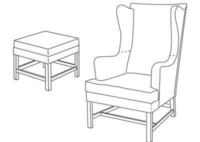 6212 Lænestol og skammel